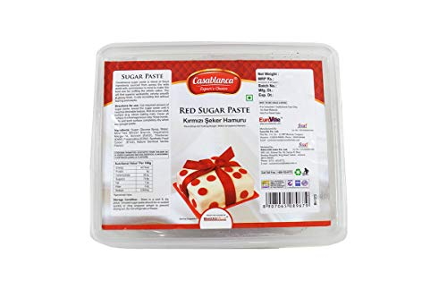 Casablanca Sugar Paste Red , 400 Gm - Bakersville Shop