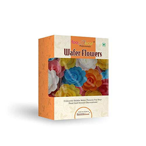 Foodecor Professionals Wafer Flowers (Rose 3)- 10pcs -BV 2800 - Bakersville Shop