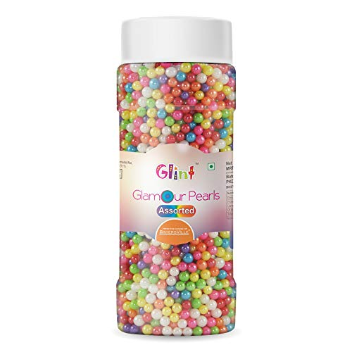 Glint Glamour Pearl Balls for Cake Decoration (4mm) (Assorted), 150g - Bakersville Shop
