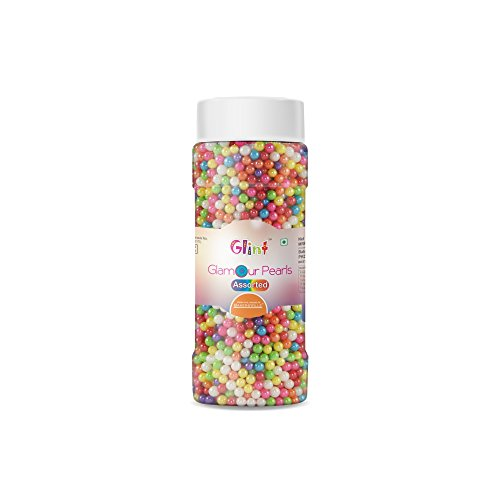 Glint Glamour Pearl Balls for Cake Decoration (4mm) (Assorted), 75g