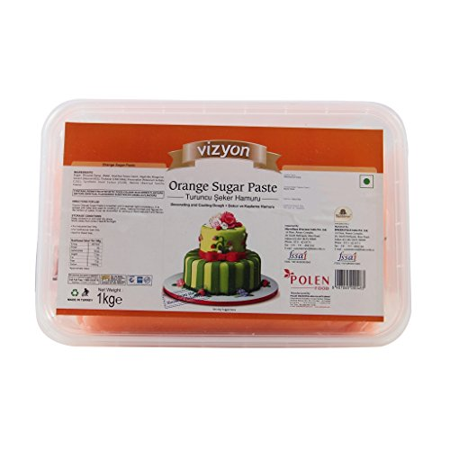 Vizyon Vizyon Sugar Paste (Fondant) - Orange 1 kg, 1000 g - Bakersville Shop