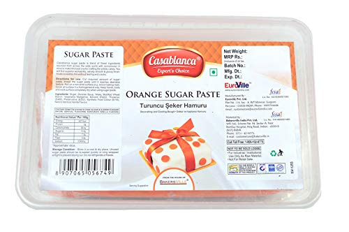 Casablanca Sugar Paste Orange , 1 Kg - Bakersville Shop