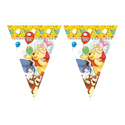 Winnie Pooh Triangle Flag Banner (9 Flags) - BV81554 - 1Pc - Bakersville Shop