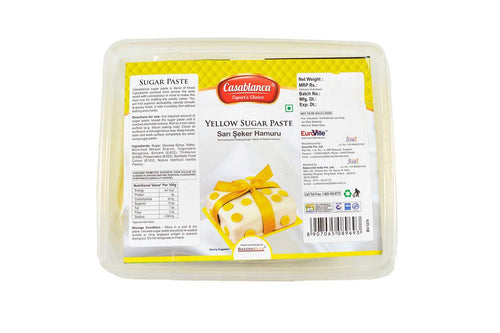Casablanca Sugar Paste Yellow, 400 Gm - Bakersville Shop