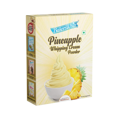 Bakerswhip Whipping Cream Powder, Pineapple, 450 gm - Bakersville Shop