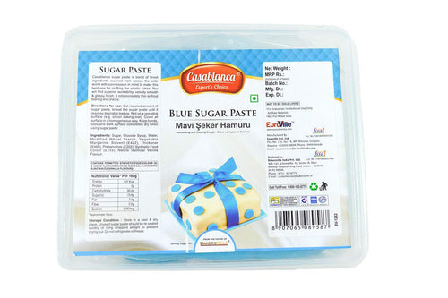 Casablanca Sugar Paste Blue, 400 Gm - Bakersville Shop