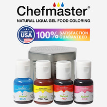 Load image into Gallery viewer, CHEFMASTER - NATURAL LIQUA GEL - ASSORTED KIT - (10 GM X 4 BOTTLES X 1 KIT) - Bakersville Shop