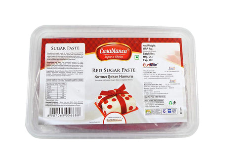 Casablanca Sugar Paste Red , 1 Kg - Bakersville Shop