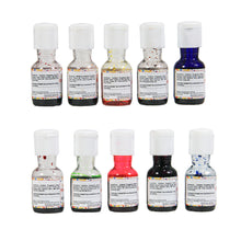 Load image into Gallery viewer, Colourmist Colour Splash Assorted 20 Ml, Pack of 10 Colours (Yellow, Orange, Green, Blue, Purple, Red, Brown, Pink, Royal Blue, Red Strawberry)