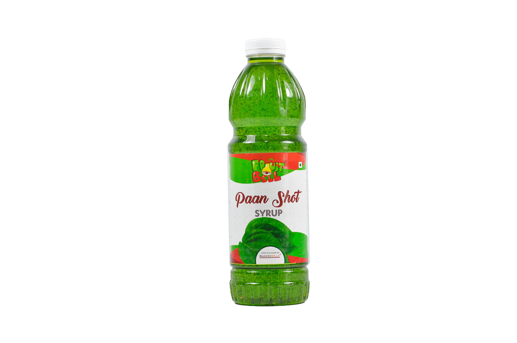 Fruitbell Fruit Syrup - Paan Shot - 1000 ml - Bakersville Shop