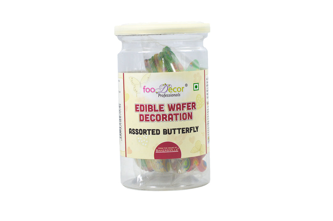 Food decor Edible Wafer Decoration Butterfly Bv2833 (30 Pieces x 1 Jar), 30 g - Bakersville Shop