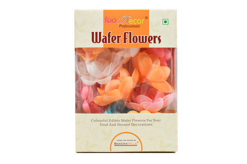 Foodecor Professionals Wafer Flowers (Rose 2)- 10pcs -BV 2799 - Bakersville Shop