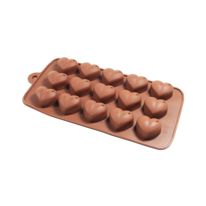 Finedecor Silicone Heart Shape Chocolate Mould - FD 3144, (15 Cavities) - Bakersville Shop