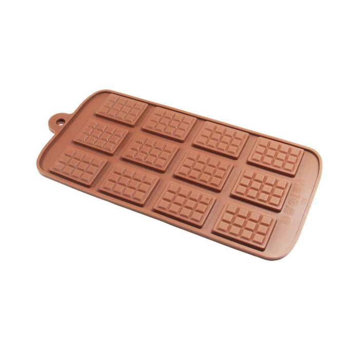 Finedecor Silicone Mini Chocolate Bar Shape Big Chocolate Mould - FD 3146, (12 Cavities) - Bakersville Shop