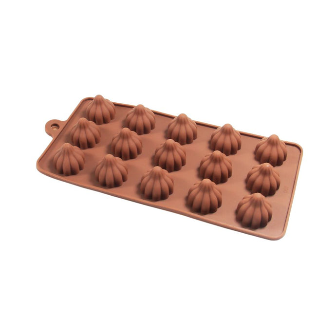 Finedecor Silicone Modak Shape Chocolate Mould - FD 3150, (15 Cavities) - Bakersville Shop