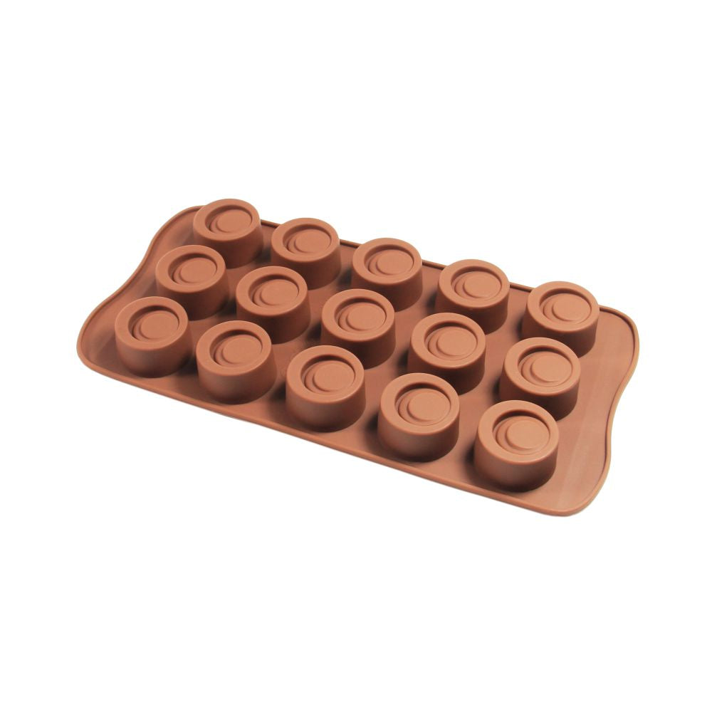 Finedecor Silicone Circular Loop Shape Chocolate Mould - FD 3156, (15 Cavities) - Bakersville Shop