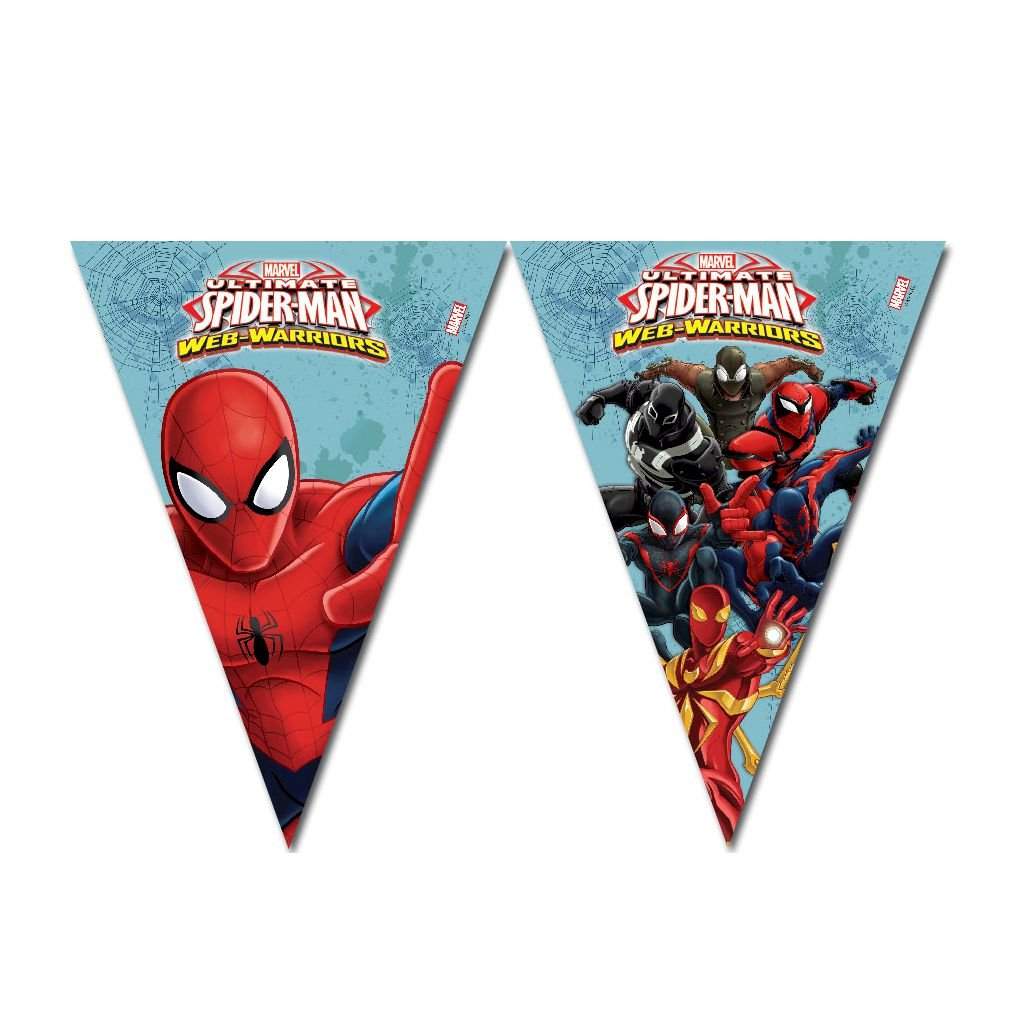 Spider Man Triangle Flag Banner (9 Flags) - BV85162 - 1Pc