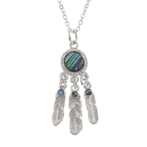 Paua Shell Dream Catcher Necklace