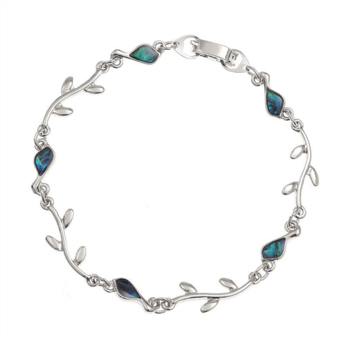 Paua Shell Bird & Branch Bracelet