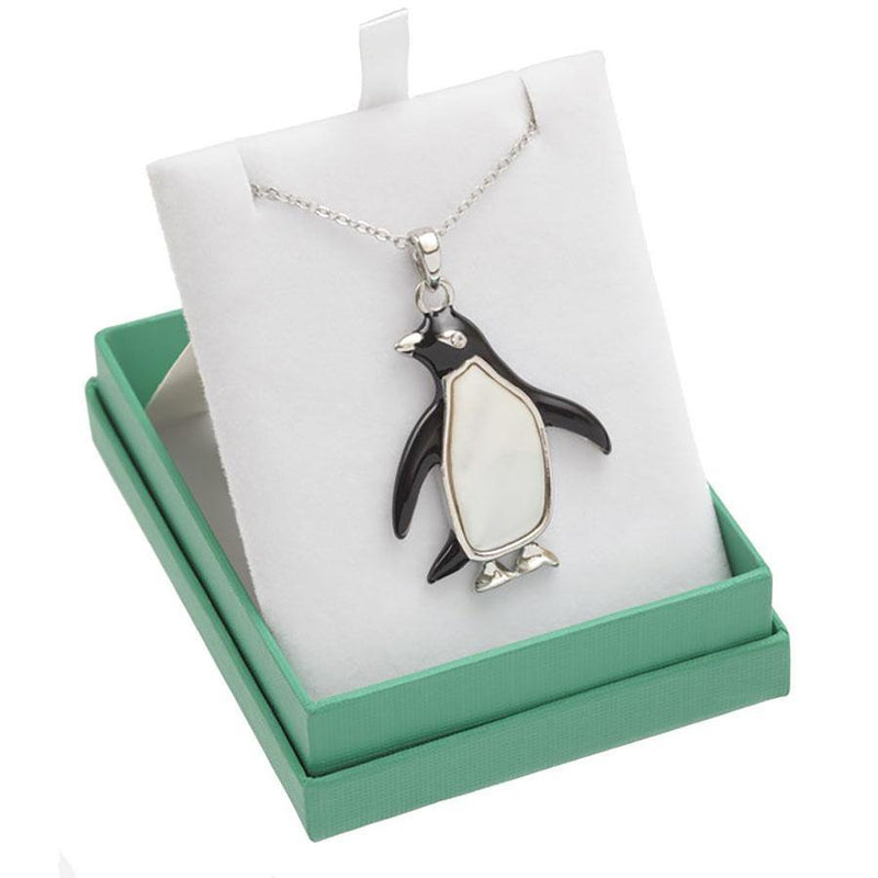 Paua Shell Penguin Necklace Boxed