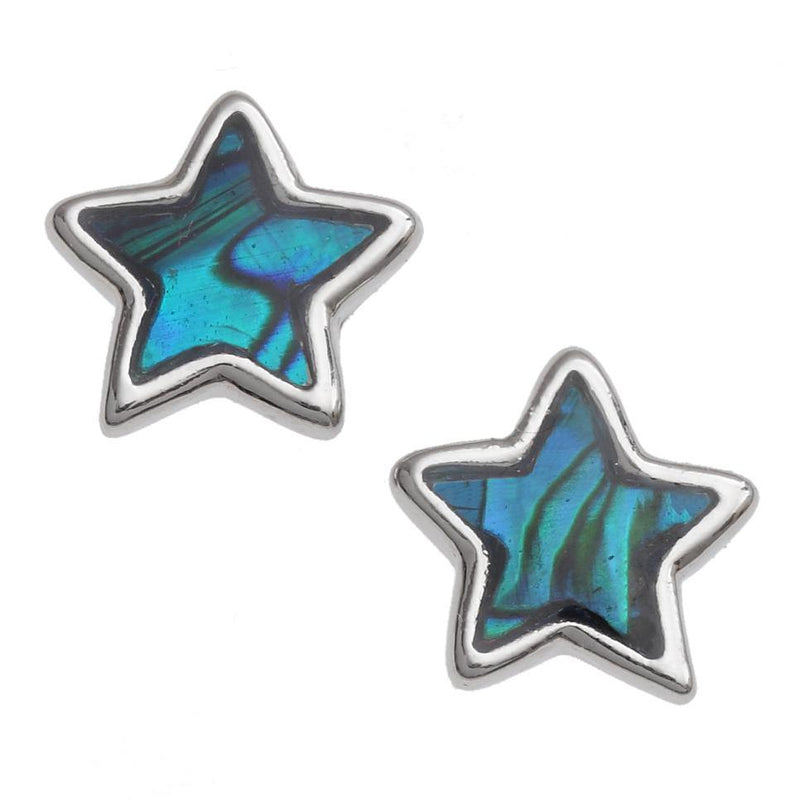 Paua Shell Star Stud Earrings