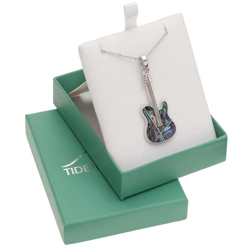 Paua Shell Guitar Necklace