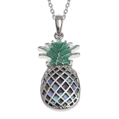 Paua Shell Pineapple Necklace