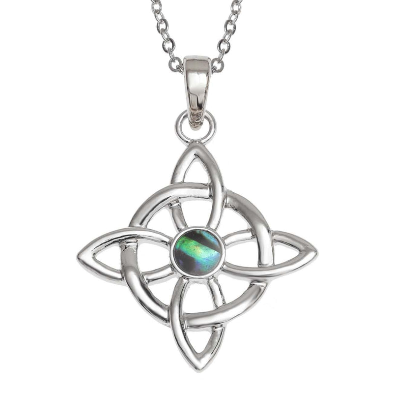 Paua Shell Celtic Good Luck Necklace