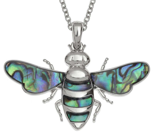 Paua Shell Large Bee Necklace