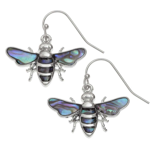 Paua Shell Bee Earrings
