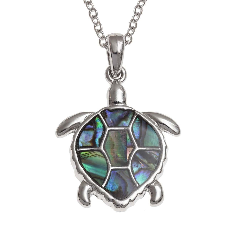 Paua Shell Sea Turtle Necklace