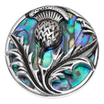 Paua Shell Celtic Thistle Brooch