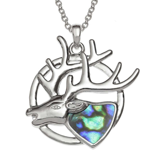 Paua Shell Stag Necklace