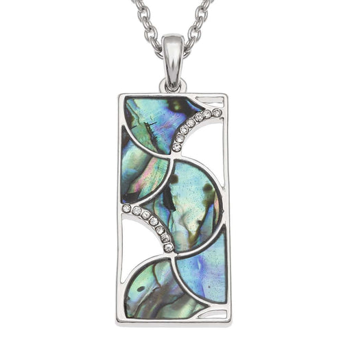 Paua Shell Geometric Necklace