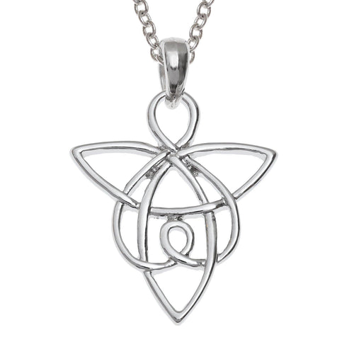 Celtic Knot Guardian Angel Necklace