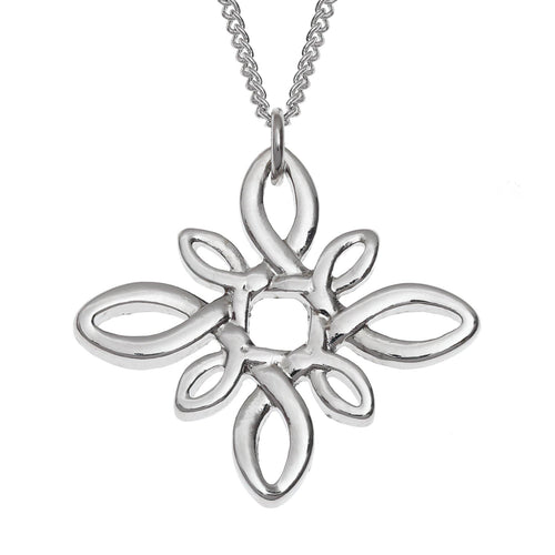 Celtic Knot Diamond Shaped Necklace