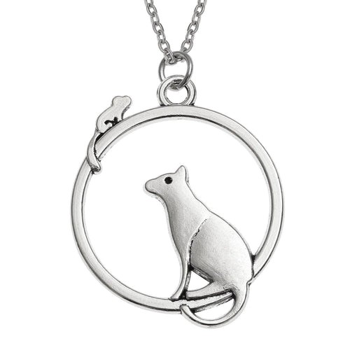 Cat & Mouse Circle Necklace