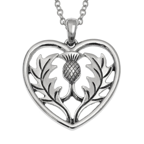 Celtic Thistle Heart Necklace