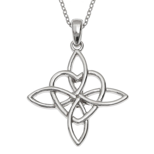 Celtic Good Luck Knot Heart Necklace