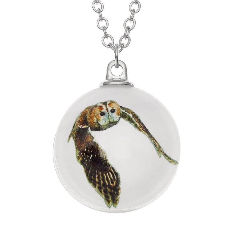 Tawny Owl Glass Necklace