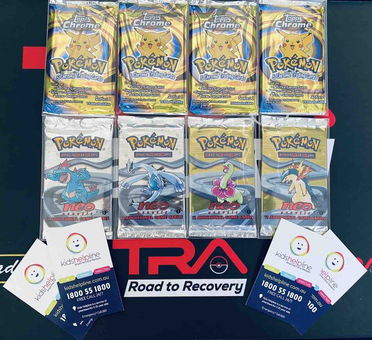 TRA Road To Recovery, Pokémon NEO Genesis Packs and Topps Chrome packs for our Kids Help Line Community Event image