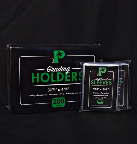 Master Pack Grading Kit image. 200 grading holders, 200 soft card sleeves