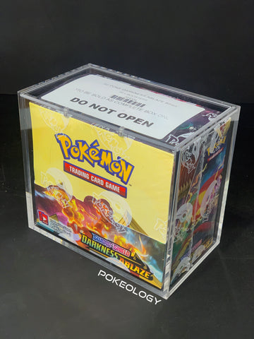 Pokeology Boostre Box Acrylic Case (modern) front on right side image