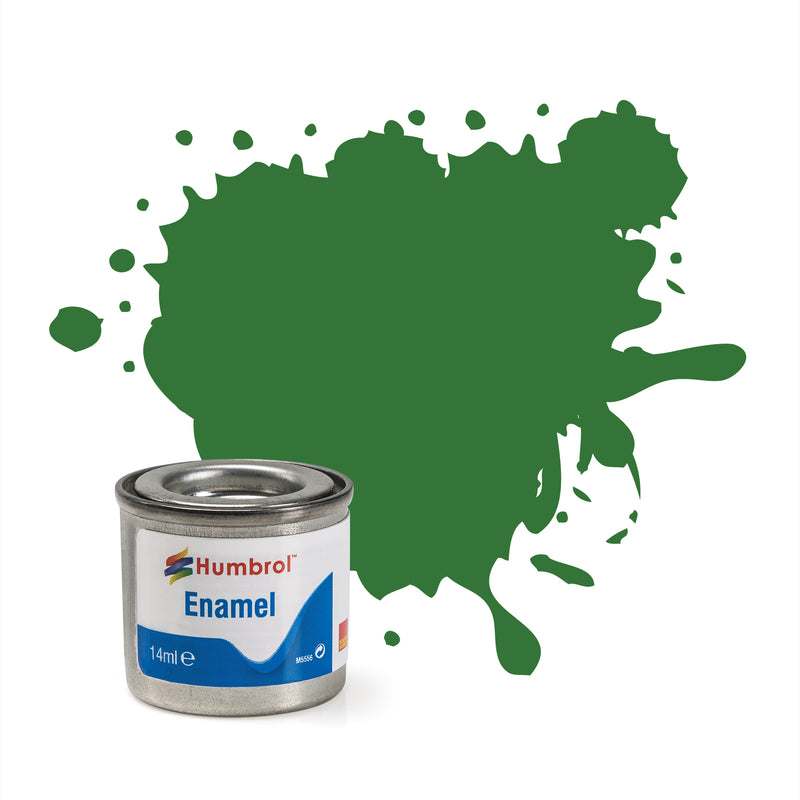 Humbrol Enamel No 131 Mid Green Satin