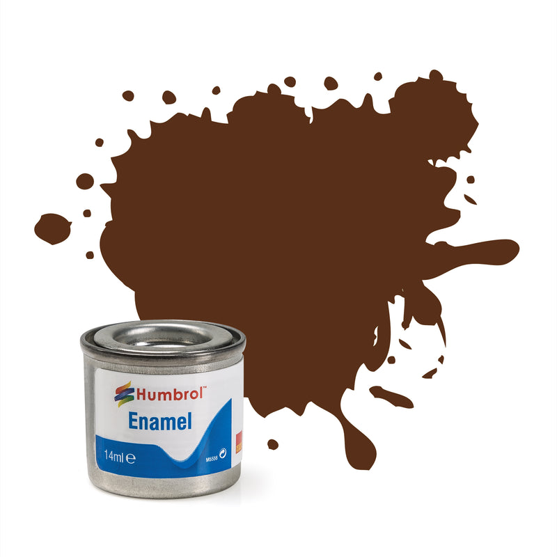 Humbrol Enamel No 160 German CAXM Red Brown Matt