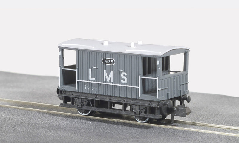Peco N NR-48M Brake Van LMS Light Grey