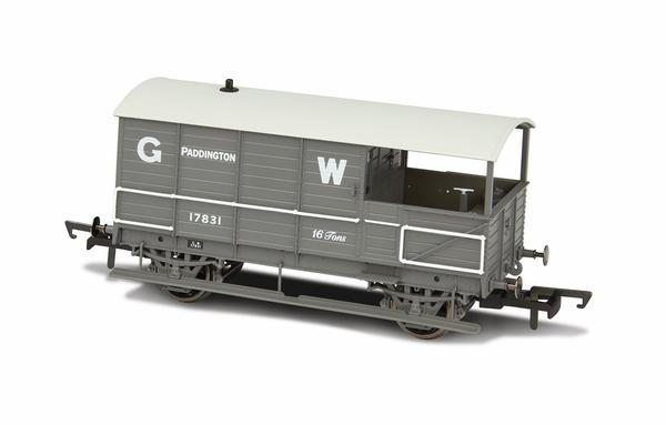 Oxford Rail GWR 4 Wheel Brake Van Paddington - 76TOB001