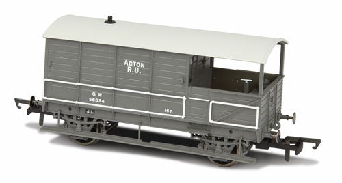 Oxford Rail GWR Plated Acton Brake Van - 76TOB002