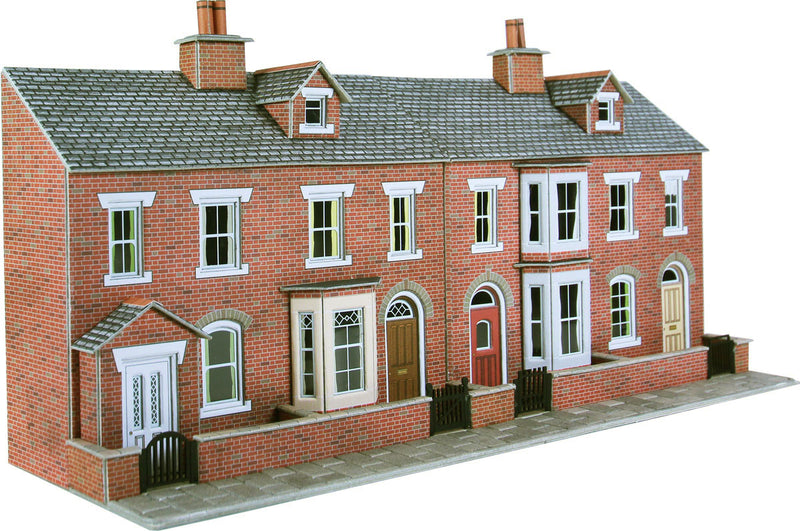 Metcalfe Low Relief Red Brick Terraced House Fronts