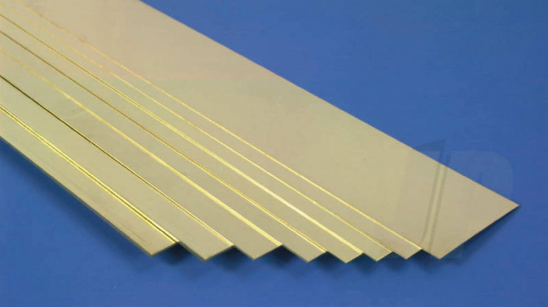 K&S 8230 Brass Strip .016 x 1/4